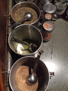 Loose forms of yerba maté tea